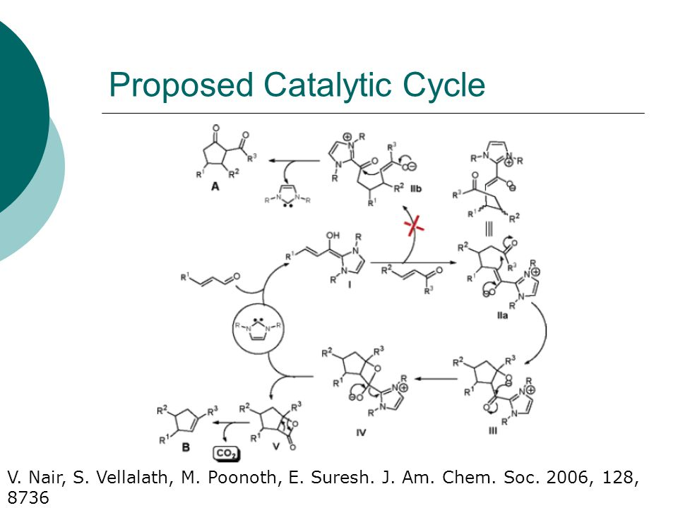 Proposed Catalytic Cycle V. Nair, S. Vellalath, M.