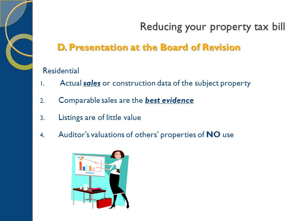 Residential 1. Actual sales or construction data of the subject property 2.