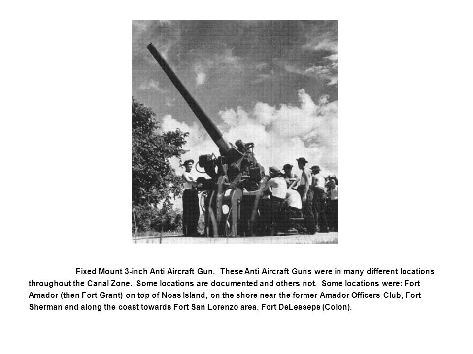 Fixed Mount 3-inch Anti Aircraft Gun.