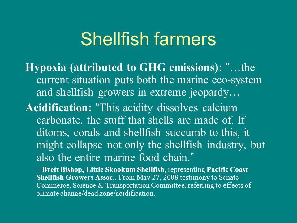 Fishery impacts of acidification: important, but poorly understood Research is urgently needed.