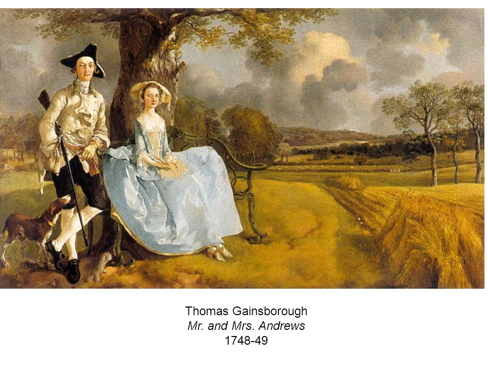 Thomas Gainsborough Mr. and Mrs. Andrews 1748-49