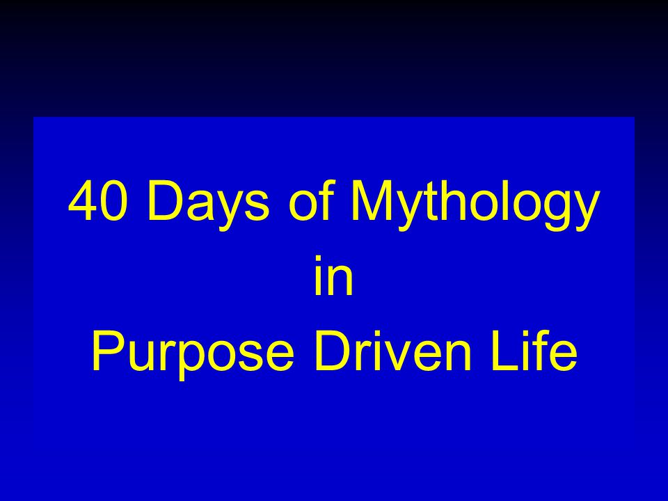 So, though 40 days is found many times in the Bible, never once is it mentioned as a time period to be observed by Jews or Christians for fasting and abstinence, let alone to determine God s purpose for our life.