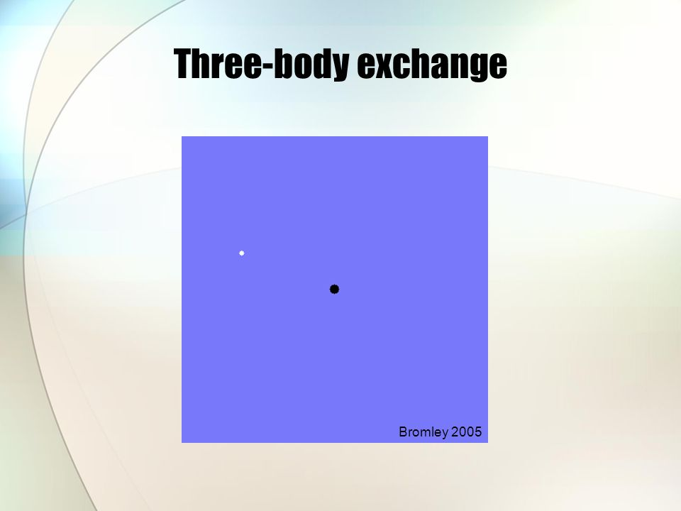 Three-body exchange Bromley 2005