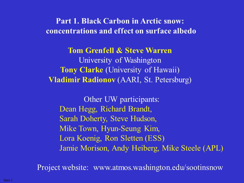 Jim Hansen for inspiring us to take on this project Clean Air Task Force and NSF Arctic Program for support Thanks to: