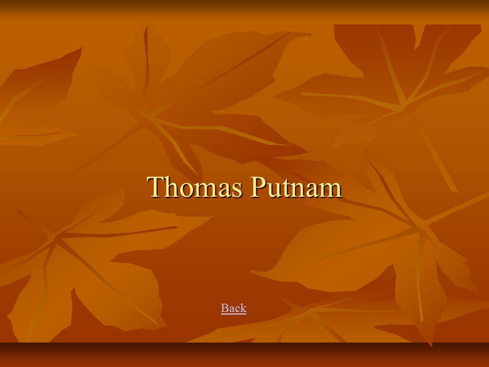 Thomas Putnam Back