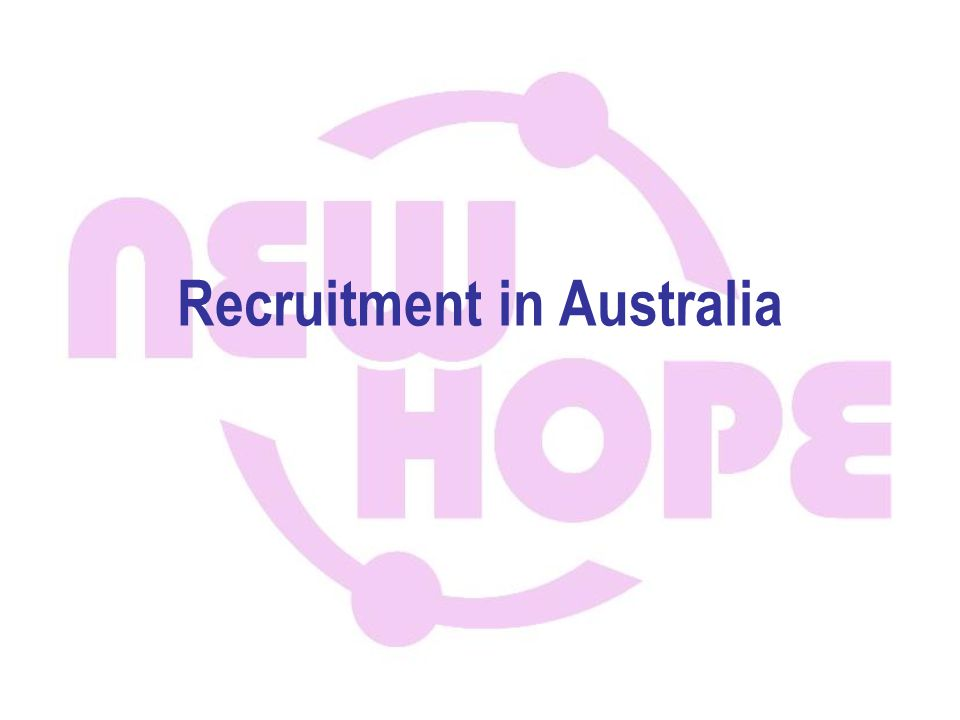 Recruitment in Australia
