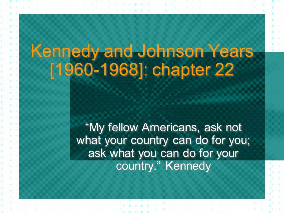 The Great Society Johnson began a series of major legislative initiatives called the Great Society