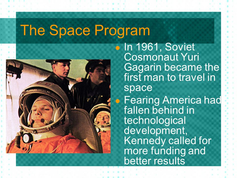 Space Program The United States should commit itself to achieving the goal, before this decade is out, of landing a man on the moon. The nation accepted the challenge and funding for NASA increased