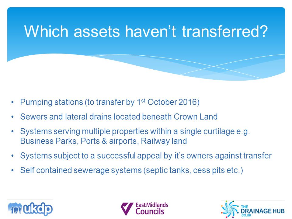 Which assets haven't transferred.