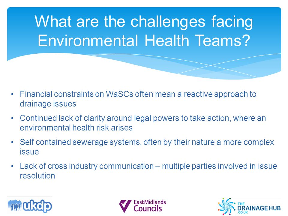 What are the challenges facing Environmental Health Teams.