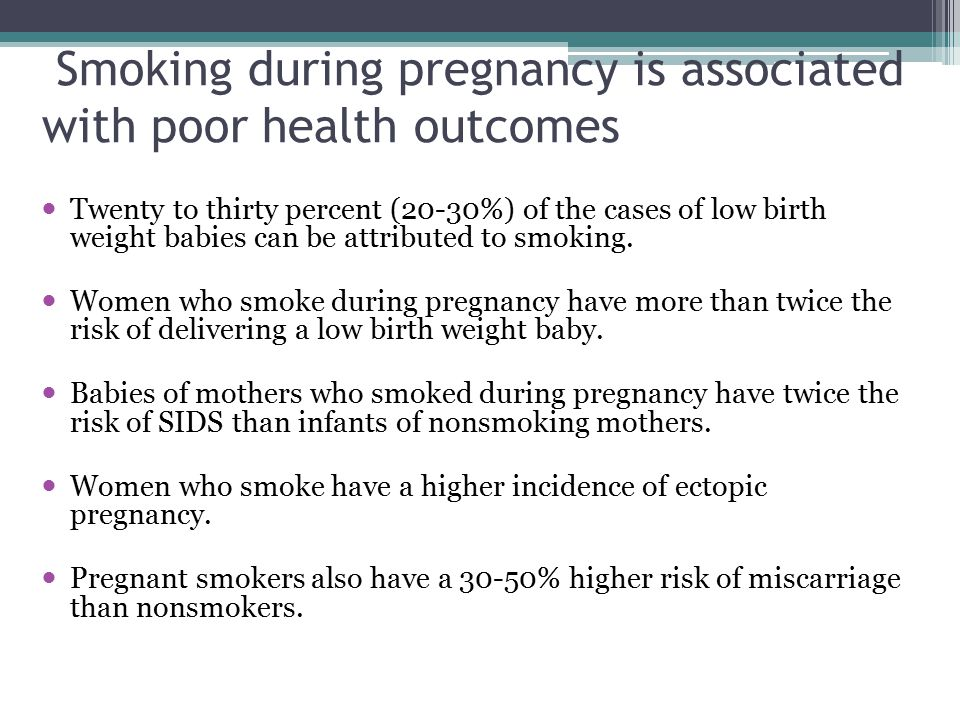 Smoking during pregnancy Indiana overall: 16.5% County rates overall: 3.9 % to 33.9% Medicaid Members: 27.0% <=10% 11-20% 21-29% 30+% 2012 Indiana Natality Report