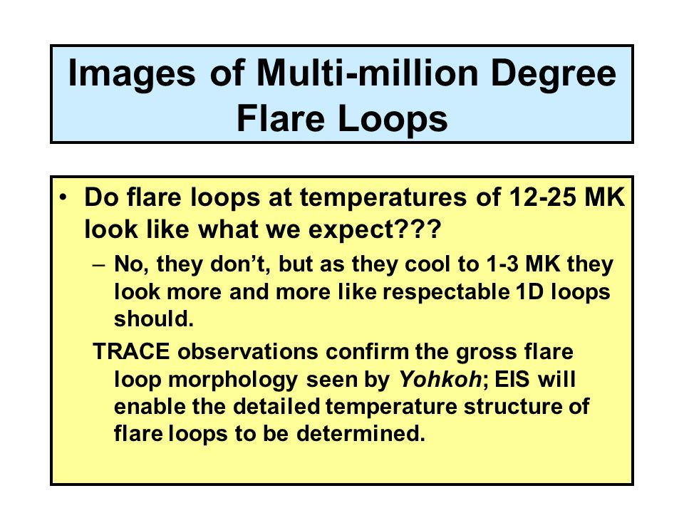 Images of Multi-million Degree Flare Loops Do flare loops at temperatures of 12-25 MK look like what we expect??.