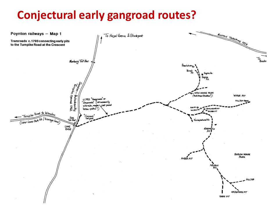 Conjectural early gangroad routes