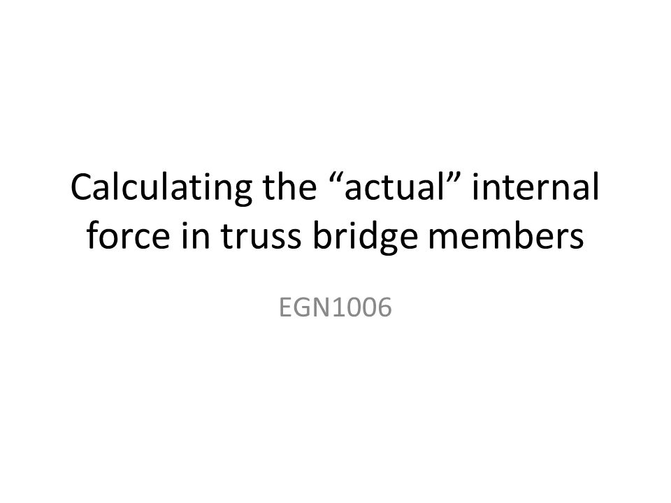 Let's look at JOINT B on our truss Assume all forces are TENSION! F BC F AB F BI