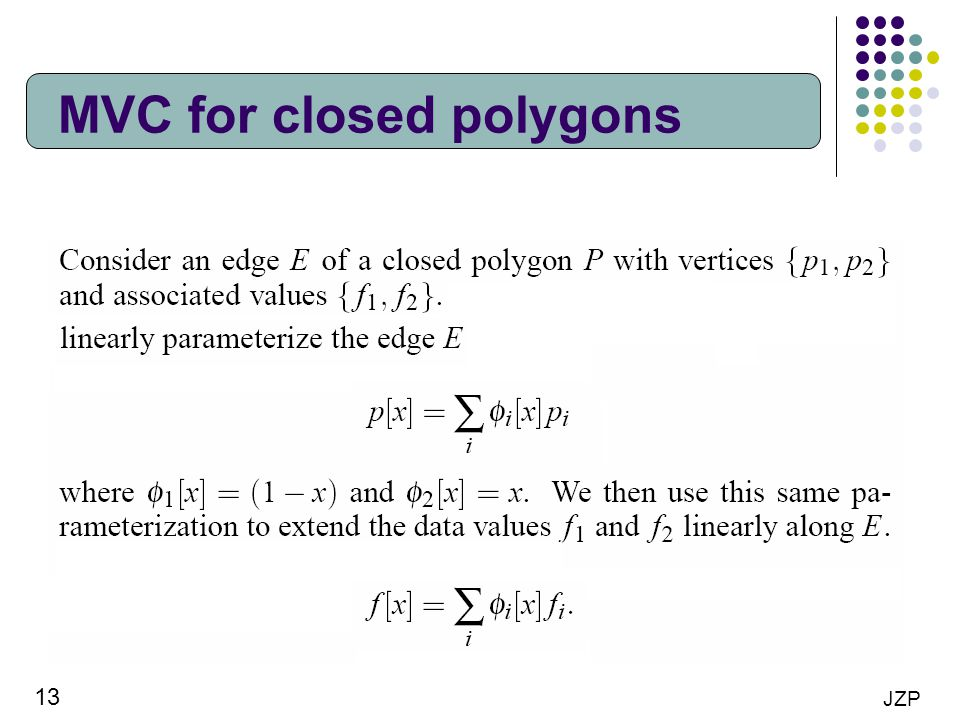 13 JZP MVC for closed polygons