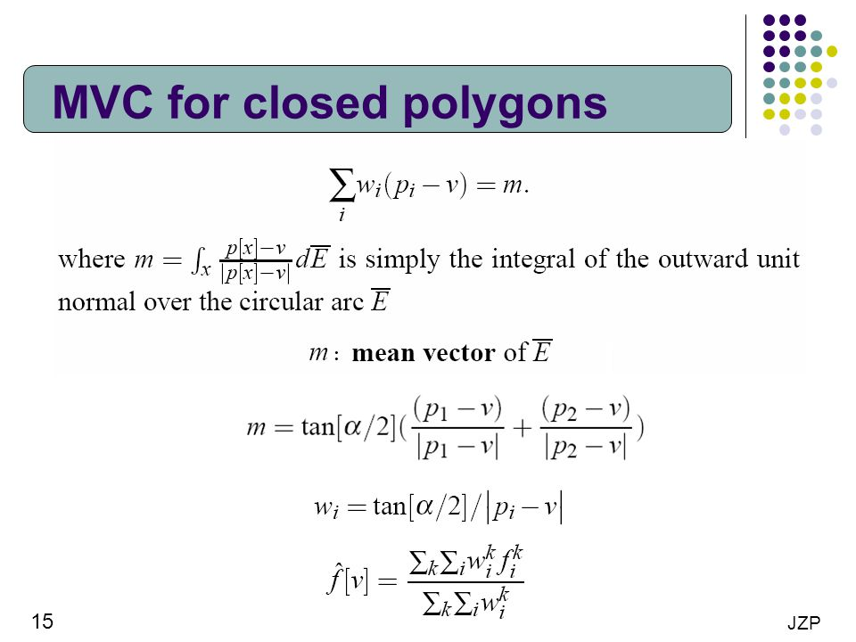 15 JZP MVC for closed polygons