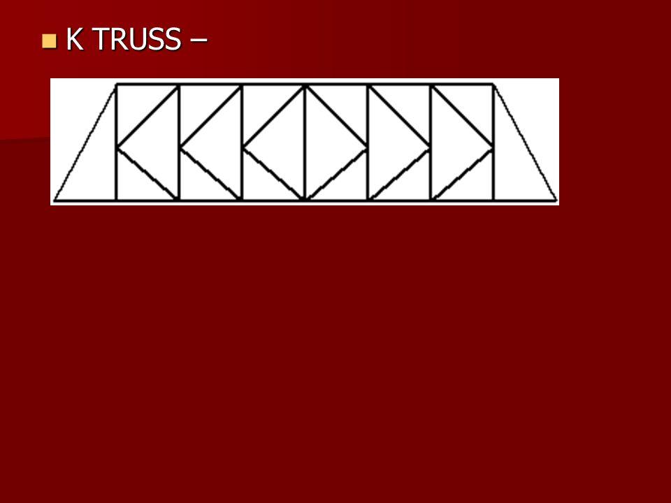 K TRUSS – K TRUSS –