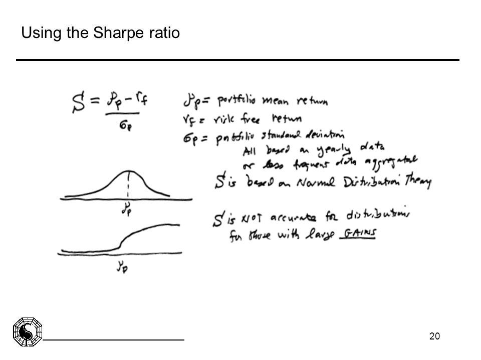 20 Using the Sharpe ratio