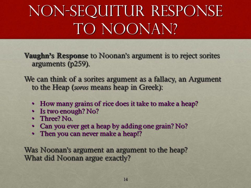non-sequitur response to noonan.