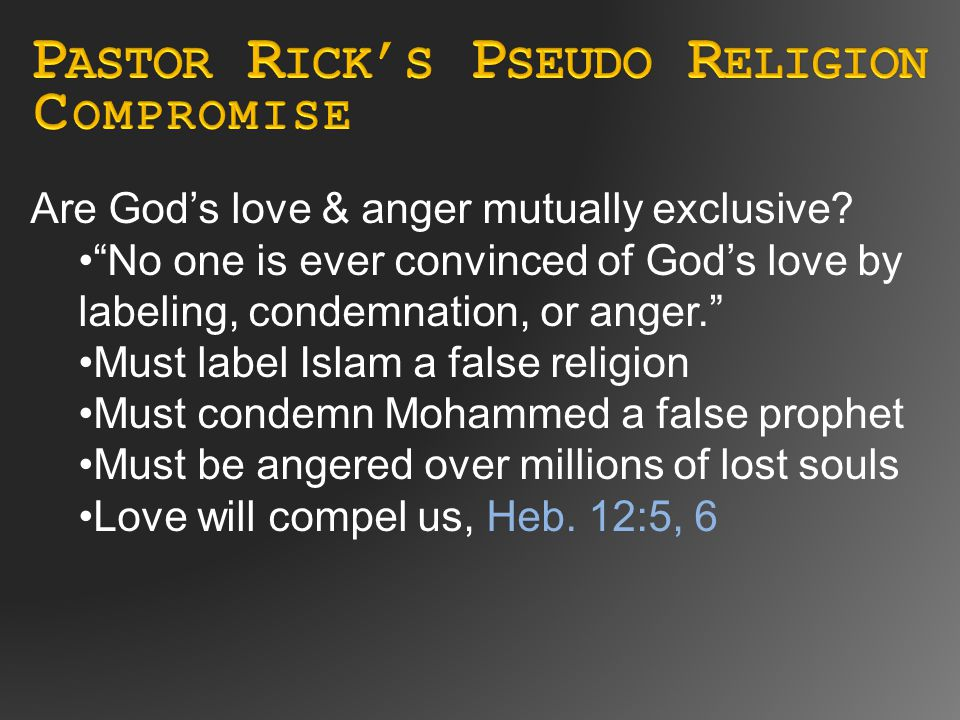 Are God's love & anger mutually exclusive.