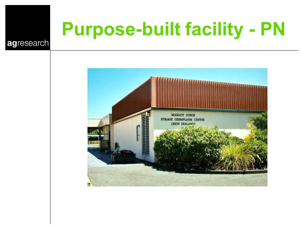 Purpose-built facility - PN