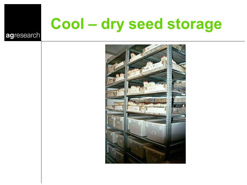 Cool – dry seed storage