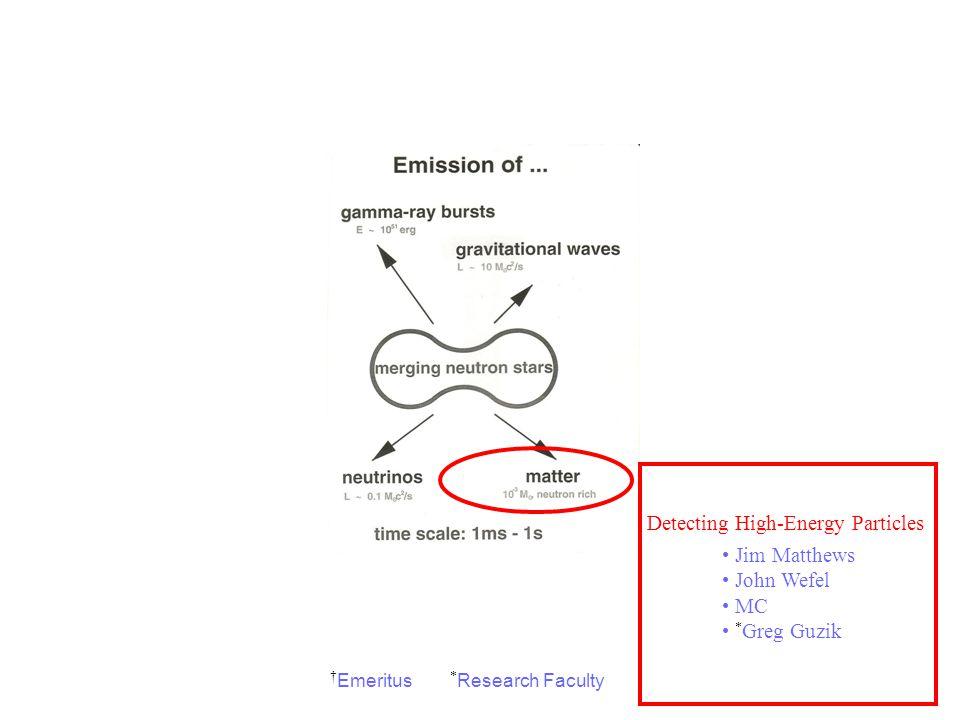 Observing Electromagnetic Radiation Mike Cherry Greg Stacy Brad Schaefer Rob Hynes Geoff Clayton † Arlo Landolt Detecting Gravitational Waves Warren J