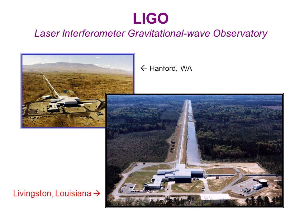 LIGO Laser Interferometer Gravitational-wave Observatory  Hanford, WA Livingston, Louisiana 
