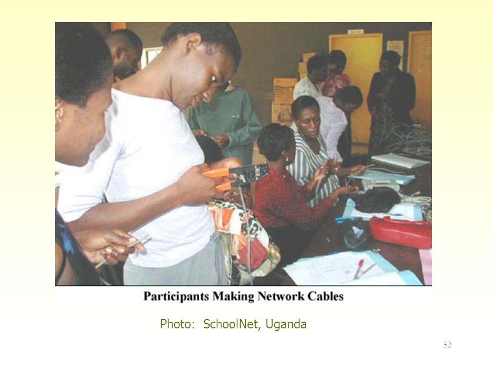 32 Photo: SchoolNet, Uganda
