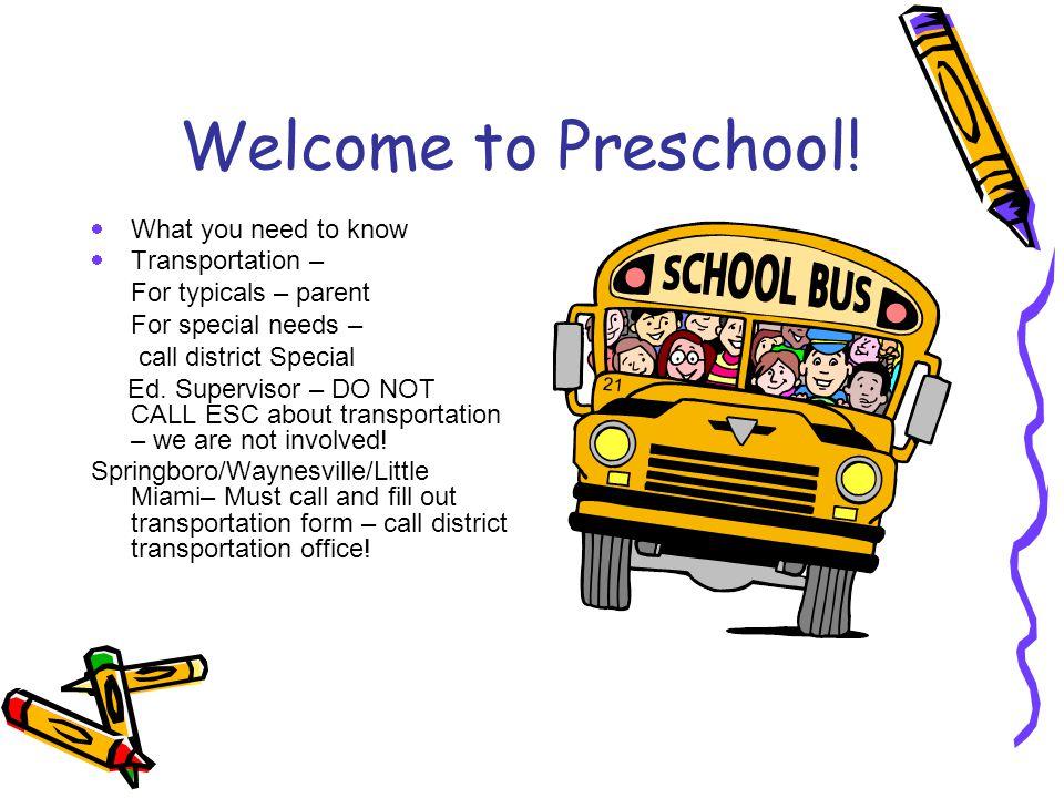 Welcome to Preschool.
