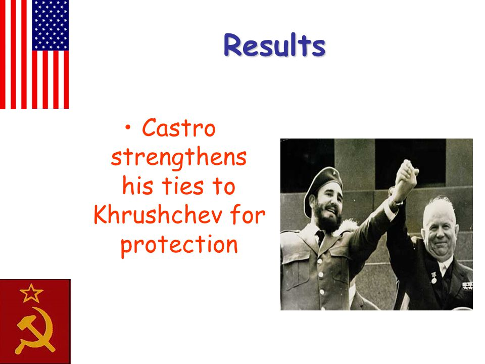 Results Castro strengthens his ties to Khrushchev for protection
