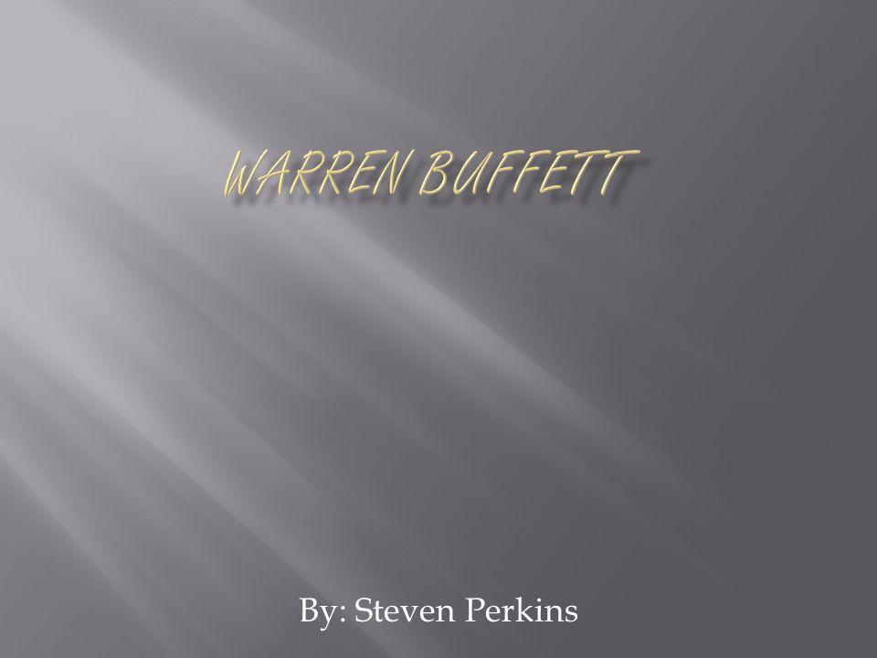 Warren Buffett's birthday is August 30, 1930 He is currently married, 3 kids.