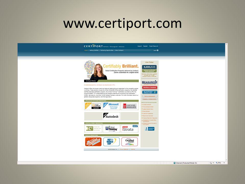 www.certiport.com