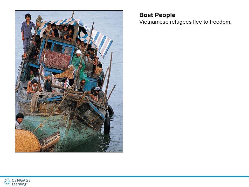 Boat People Vietnamese refugees flee to freedom.