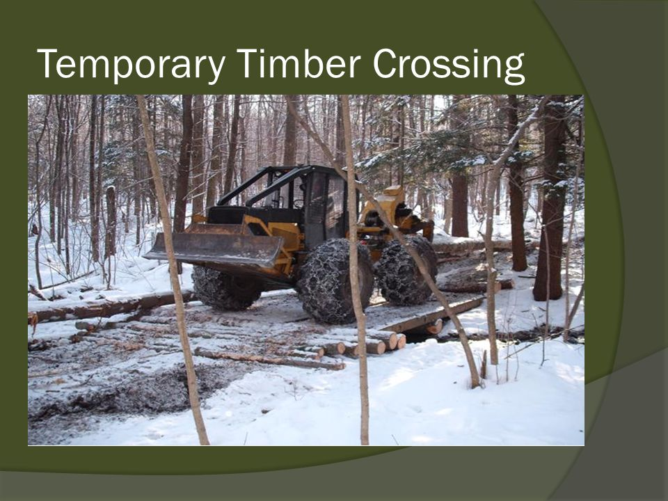Temporary Timber Crossing