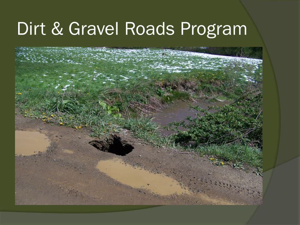 Dirt & Gravel Roads Program