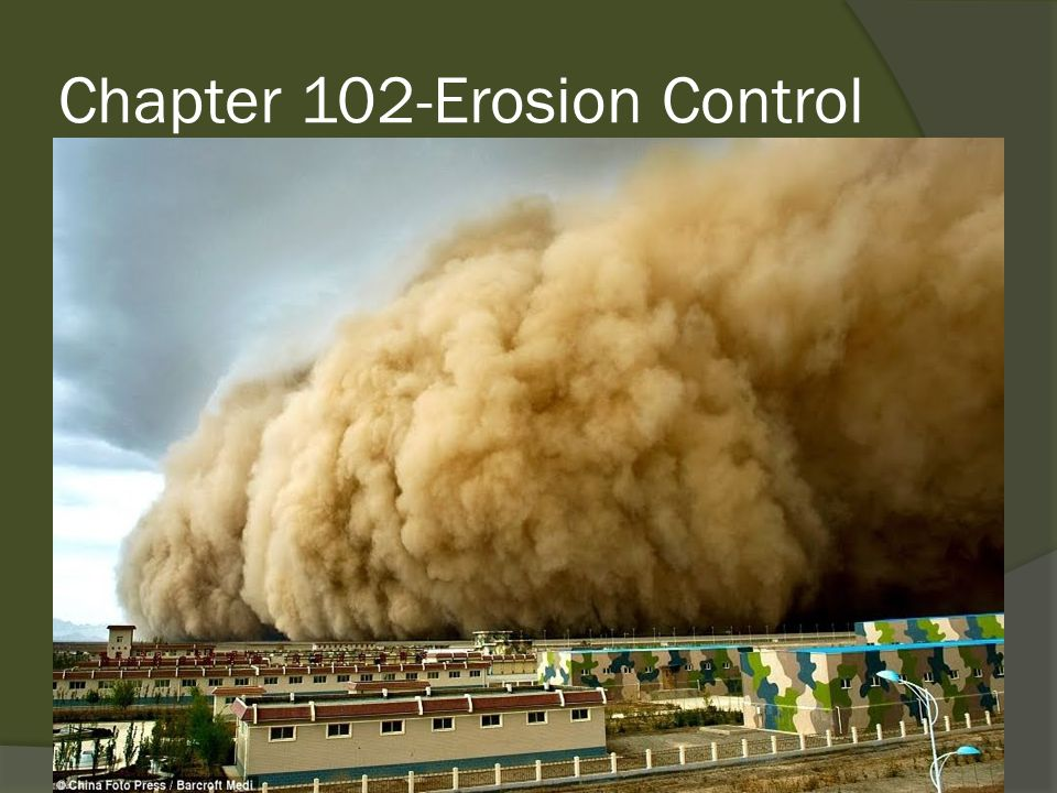 Chapter 102-Erosion Control