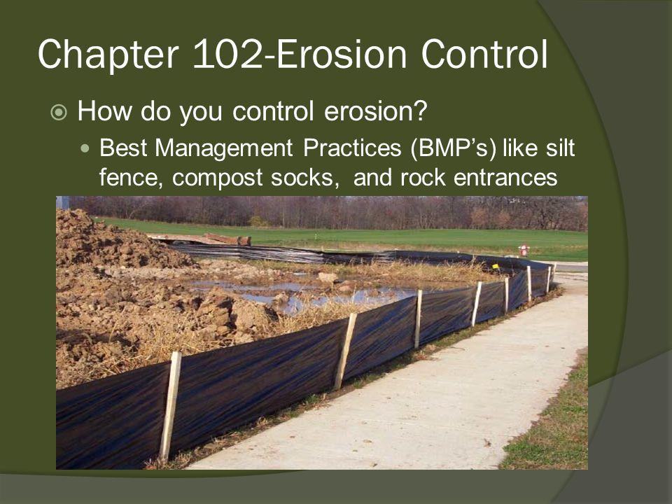  How do you control erosion.