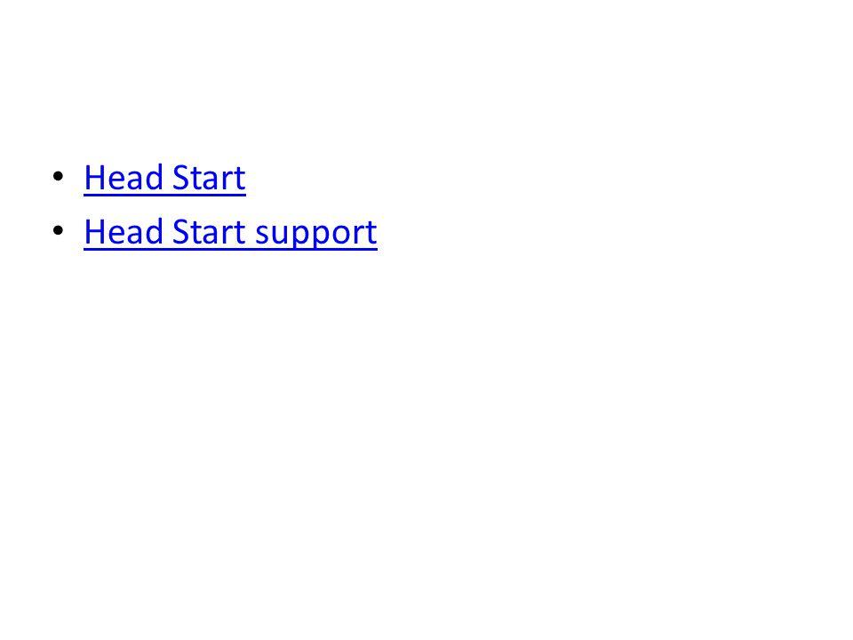 Head Start Head Start support