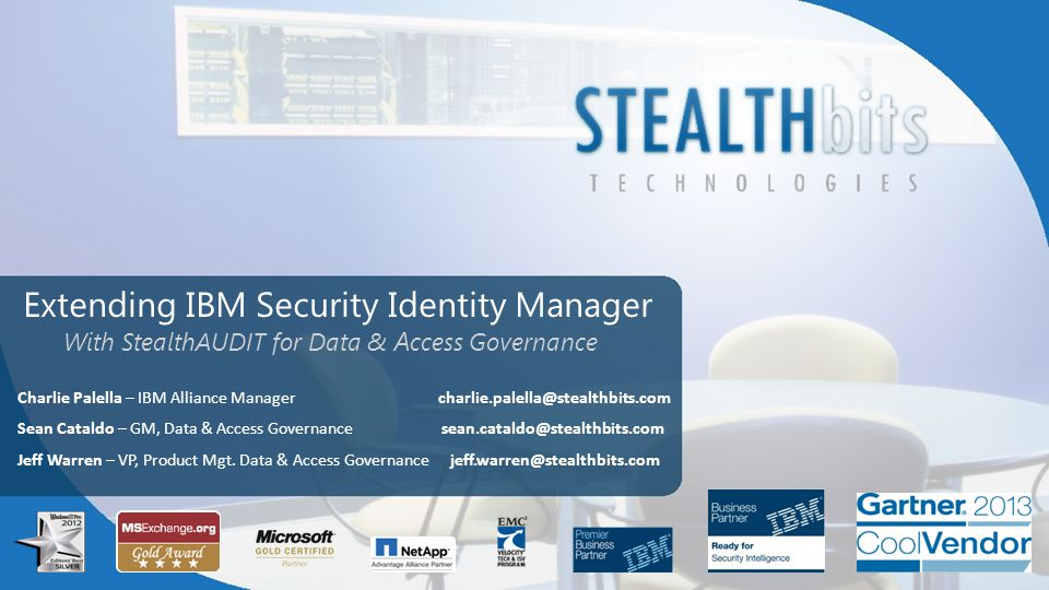 IBM & STEALTHbits: One Stop Access Governance What SIM DoesNativelyWith StealthAUDIT Provision User Accessto Applications (ex.