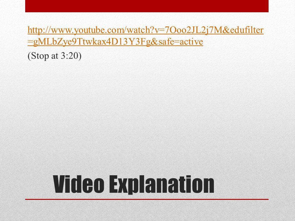 Video Explanation http://www.youtube.com/watch v=7Ooo2JL2j7M&edufilter =gMLbZye9Ttwkax4D13Y3Fg&safe=active (Stop at 3:20)