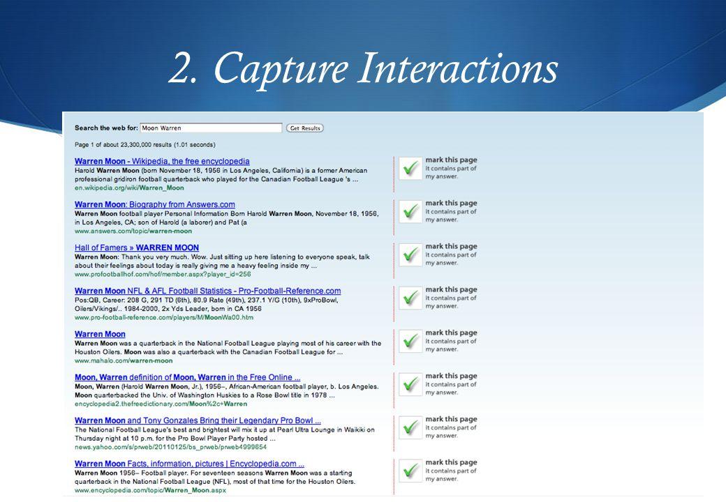 2. Capture Interactions