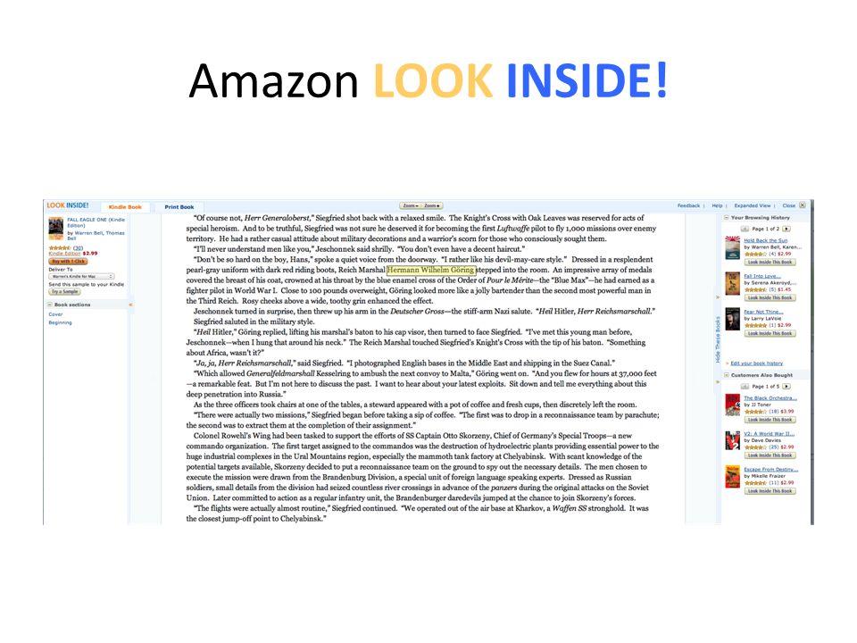 Amazon LOOK INSIDE!