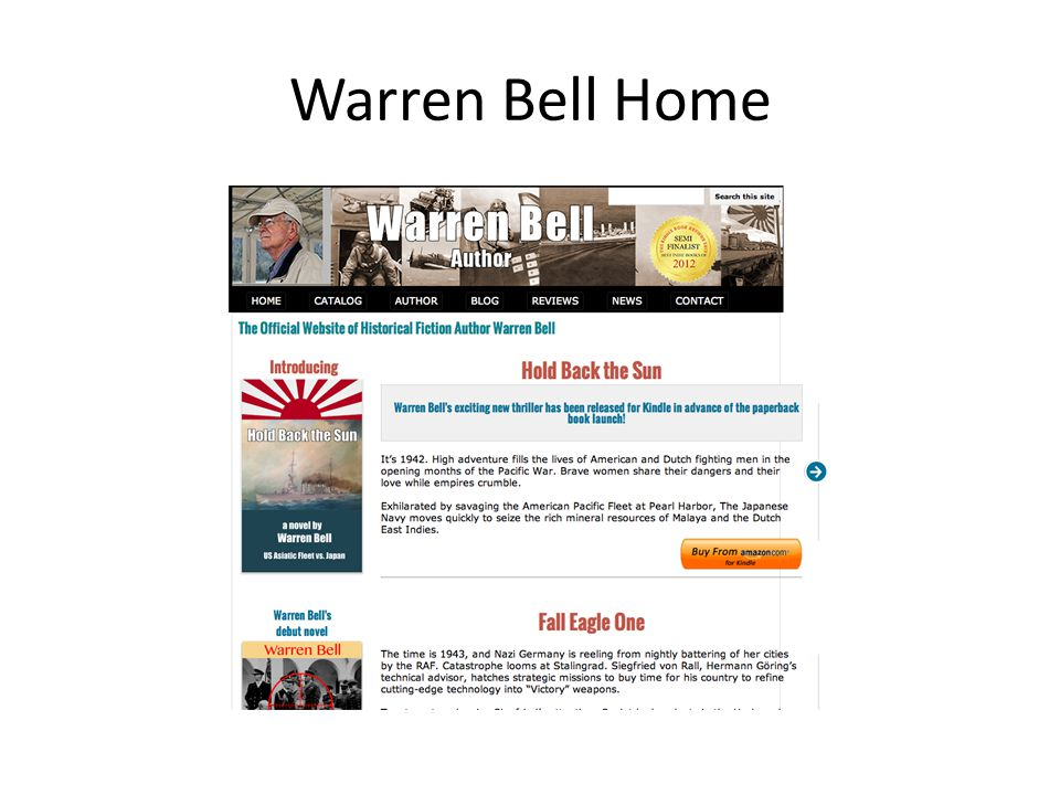 Navigate to Author Page