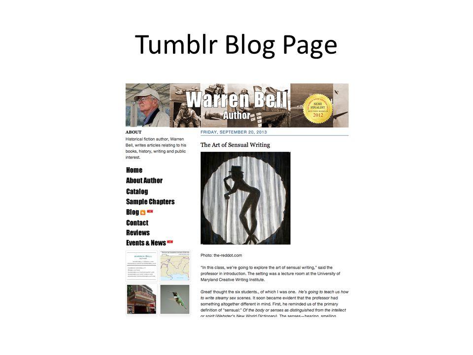 Tumblr Blog Page