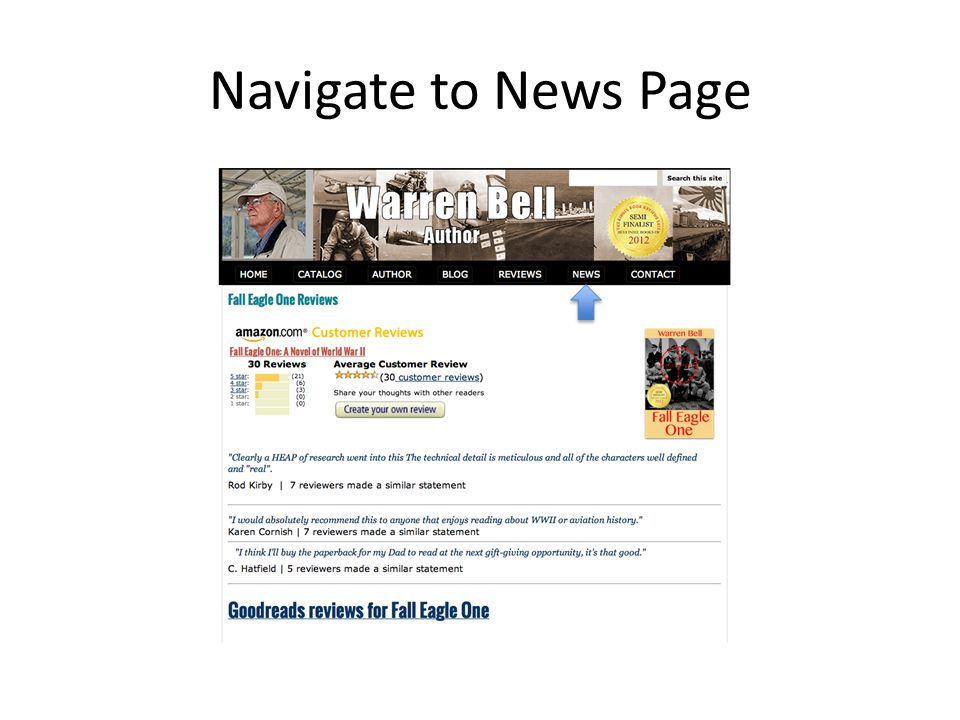 Navigate to News Page