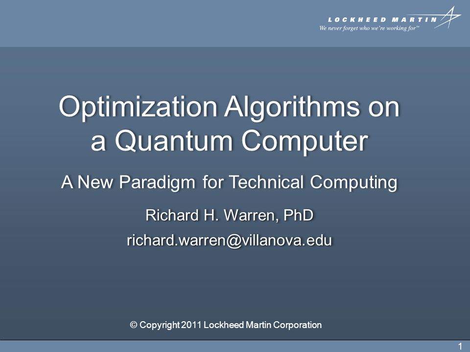 Other Inputs to Quantum Processor LaGrange multipliers – balance objective function and constraints.