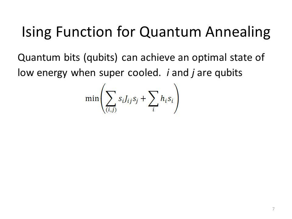 Limitations of Quantum Annealing Limited number of qubits restricts number of variables h i Limited connectivity between qubits restricts which parameters J ij can be nonzero Precision affected by temperature and analog nature of parameters h i and J ij in hardware Techniques that Overcome Limitations 48 Techniques that Mitigate Limitations