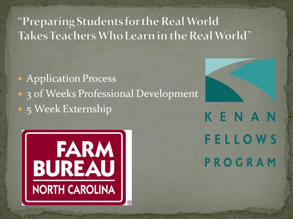 Application Process 3 of Weeks Professional Development 5 Week Externship