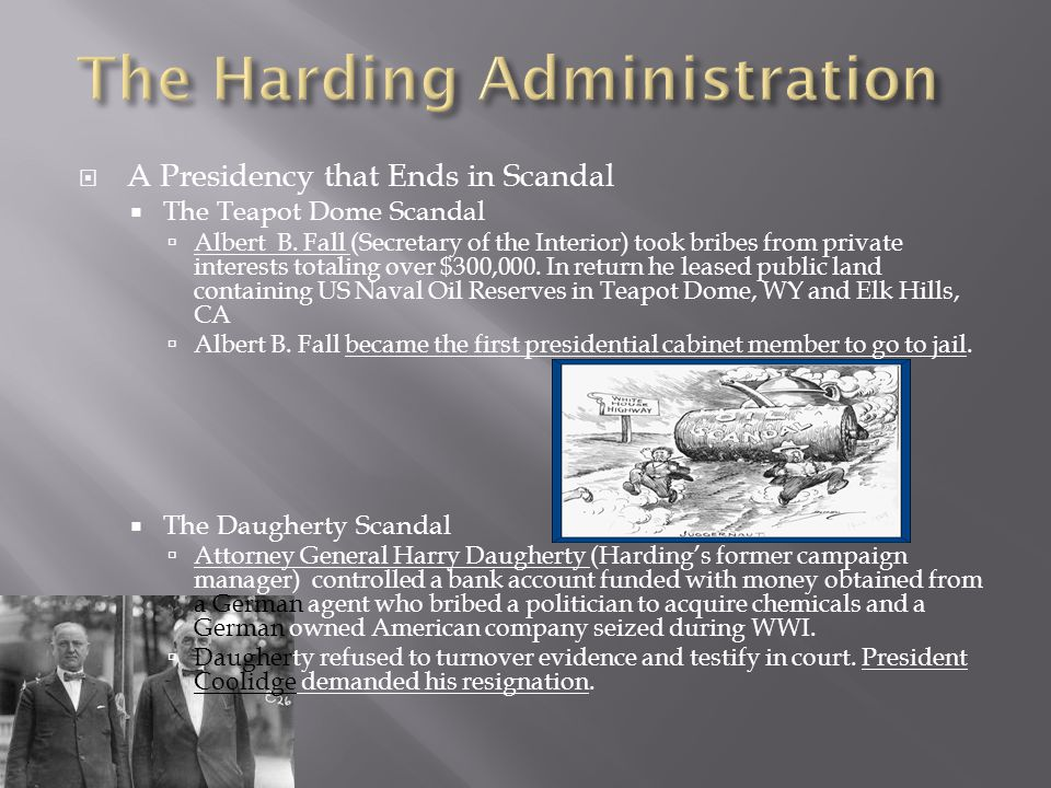  A Presidency that Ends in Scandal  The Teapot Dome Scandal  Albert B.